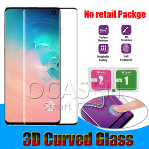 Case Friendly 3D Curved Tempered Glass For Samsung Galaxy S8 S9 S10 Plus Note8 Note9 Note10 Plus S20 Plus Ultra P30 Mate30 Pro