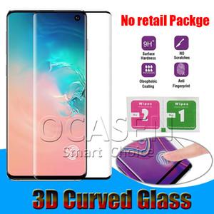 Verre courbé cas 3D bienvenus Trempé pour Samsung Galaxy S8 S9 S10 plus Note8 Note9 note10 plus S20 Plus Ultra Pro P30 Mate30