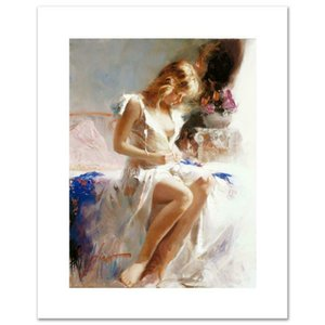"""Pino """"Early Morning"""" El arte de edición limitada Decoración pintado a mano de pintura al óleo sobre lienzo de arte cuadros de la pared de lona 200608"""