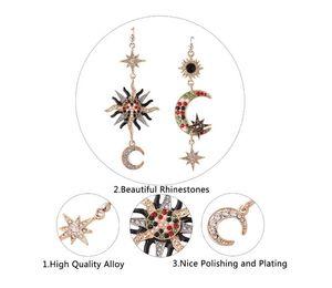 blingbling wholesale Stars same style diamond Jewelry Earrings Sun and moon irregular exaggerated eardrop long lady ear stud earrings