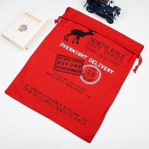 Designer-novo do Natal sacos do presente da lona ano cordão de Natal Meias Gift Bag compras de Natal Doces Sacos grande capactity