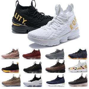 Nouveau 15 15s Ashes Esprit Floral Hommes Basketball Chaussures Noir Blanc Jaune Mode respirant Sport EP Formation Sneakers Taille 40-46