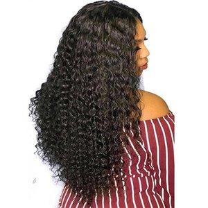 H A Deep Wave Hair Bundles With 13x4 Closure Ear To Ear Remy Hair 100 %Brazilian Indian Human Hair Extensions 50g  Bundle Black Color 8