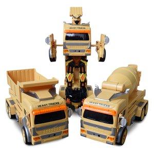 1:12 remote control truck watch gravity sensing dual mode deformation engineering truck mixer RC Engineering Car kids toys