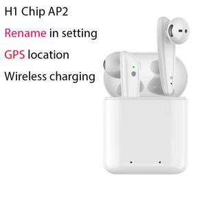 H1 чип беспроводной зарядки ТЧД2 GPS Rename Earbuds Беспроводные Bluetooth наушники авто кожура Optical In-Ear Наушники Detection PK i200 i500