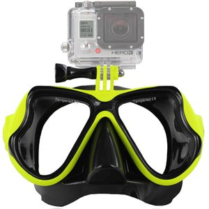 Underwater Scuba Diving Mask Professional Snorkel Swimming Goggles Compatible Gopro Camera Anti Fog Coated Tempered Glass under sea