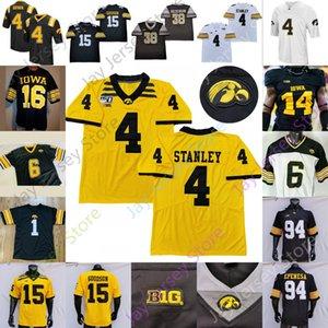 IOWA Hawkeyes Futbol Jersey NCAA Kolej Nate Stanley Sargent Smith-Marsette Genç Goodson Ragaini Smith Tracy Jr Welch AJ Epenesa