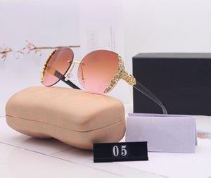 İnci Kadın Tasarımcı Güneş Marka Kadın Güneş Plajı Gözlük UV400 Modeli Kutusu ile 05 8 Renk yüksek Kalite