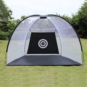2020 nuevo estilo negro Golf entrenamiento Adis plegable golpear jaula jardín pastizales Golf entrenamiento práctica neto deporte Golf ejercicio equipo