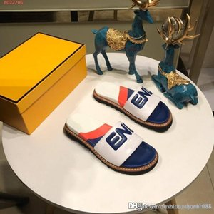Summer new letters Color matching Fashion slippers Flat-bottom indoor and outdoor wear Casual women shoes slippery