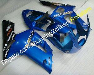 Motorrad Fit für Kawasaki ZX-6R 2003 2004 ZX 6R 636 ZX636 ZX-636 03 04 ZX6R Blue Black Bodywork Verkleidung Kit (Spritzgießen)