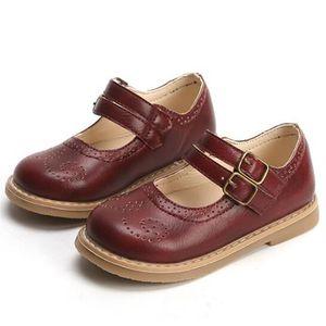 2020 جديد ربيع الخريف الأطفال جلد طبيعي الأحذية لينة أسفل عدم الانزلاق ارتداء الأطفال الأحذية المسطحة الفتيات الأزياء أحذية الأطفال أحذية