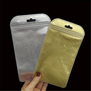 Não-tecidos Resealable Plastic Retail caixa do pacote de embalagem Bag fosco prata dourado Opp embalagem para Cabo USB headphones