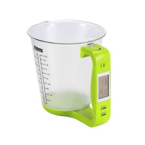 1KG 600ML Measuring Cup Kitchen Scales Digital Beaker Libra Electronic Tool Scale with LCD Display Temperature Measurement Cups