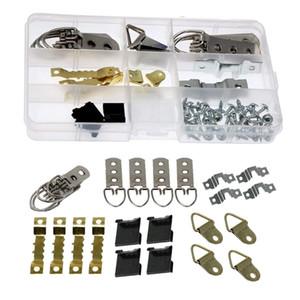 Крючки Rails 76 шт. / Наборы PO CARME, картинные часы, Аксессуары для установки оборудования, комплект хранения, металлический комплект Крюк