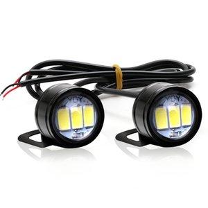 10pcs DC 12V 5W Kartal Göz LED 20mm Ters Yedekleme Işık DRL Gündüz Motosiklet Car için Işık Sinyal Ampul Sis Lambası Running