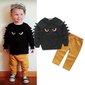 2 pièces Ens enfants vêtements bébé garçon ensemble marque petit pull pull designer enfants costume pantalon monstre de mode garçons vestes pour hommes de marque