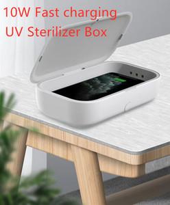 10W QI 무선 충전기 아로마 테라피 상자 아이폰 휴대용 6 LED UV 살균기 오존 소독 / 삼성 / 화웨이 / OPPO