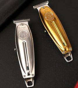 Nouveaux tout métal professionnel Rasoirs hommes sans fil Tondeuse électrique T Lame Terminer chauve Haircut machine 100-240 Argent