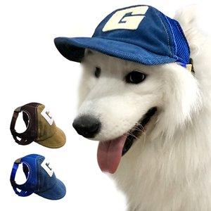 Didog Mesh Köpek Güneş Şapka Moda Beyzbol şapkası Nefes Spor Şapka Kulak Delik Fot Evcil Açık Yaz Şapkalar Aksesuarları ile