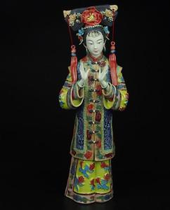 Shiwan mestre boneca de senhoras finas da antiga China figura decoração decorativa cerâmica artesanato estúdio ornamentos Mobiliário Doméstico