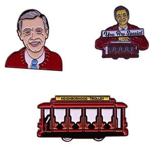 Mr. Rogers Serie Emaille Pin nostalgische Kindheit TV-Show Sammlung