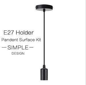 E27 / E26 스크류 타입 전구의 빛은 Set 램프 홀더 피팅 액세서리 키트와 E27 펜던트 심플한 디자인