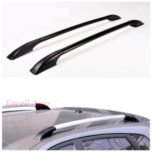 2pcs / Set en alliage d'aluminium Barres de toit Coffres de toit rack Bars rack Sticker Fit pour Mazda 2 3 pour Peugeot 206 207 208 voitures
