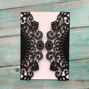 15pcs Wedding Invitations Cover Cards ,Hollow Laser Cut Sky Wheel Design,Vintage Style Birthday Party Elegant Invitations Supplies