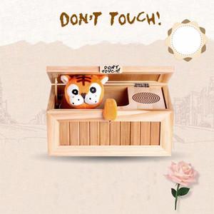 나무 쓸모없는 전자 상자 귀여운 호랑이 재미 장난감 선물 감압 장난감 재미있는 선물 K103