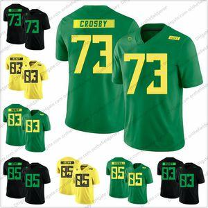 Oregon Ördekler 2018 Yeni Stil # 73 Tyrell Crosby 83 Johnny Mundt 85 Firavun Kahverengi Kolej Futbol Formaları S-3XL