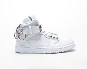 Siyah Beyaz Bir 1 Günlük Ayakkabılar Yüksek Kesim Klasik Mesh Nefes Ayakkabı Bay Bayan Unisex biri 1 Chaussures L26