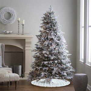 48 inç Yılbaşı Ağacı Etek İşlemeli kar tanesi Ağacı Süsler Yuvarlak Halı Yolluk Noel Partisi Tatil Süsleri JK1910