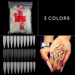 Faux Nails 500pcs Conseils à ongles Stiletto Long Sharp 49cm Acrylique