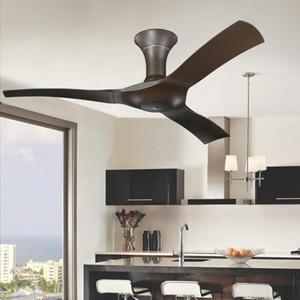 Hafif tavan fanı Ev ventilador de teto ventilador 220V olmadan Uzaktan Kumanda ile 54 inç kahverengi Modern Tavan Fanları