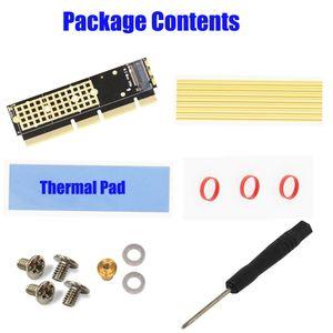 M.2 NVMe SSD NGFF A PCIE X16 / X8 / adaptador X4 M Llave tarjeta de interfaz de soporte PCI Express 3.0 X16 / X8 / X4 2230-2280