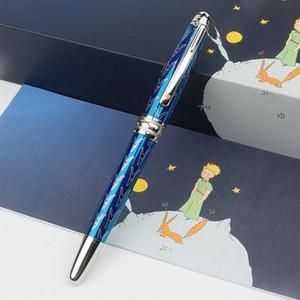 Limited Edition Blue Sky Blank Le Petit Montt clip Prince-Pens avec jaune Laqué étoile. Mode Hommes MB Marques Cufflinks