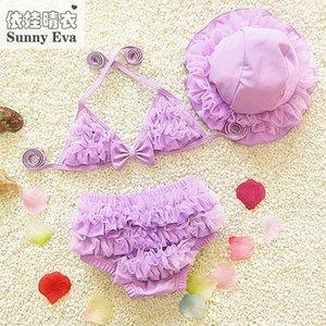 maillot de bain maillot de bain Sunny fille eva pour fille enfants bikinis robe en deux parties pour les filles de bain natation vêtements childrens maillots de bain UtYs #