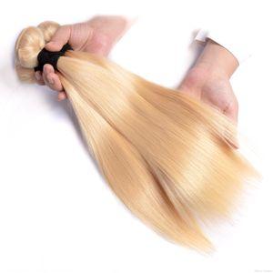 H الحديثة مشاهدة 613 شقراء الحرير مستقيم الشعر حزم 613 البرازيلية مستقيم الشعر موجة نسج العذراء لحمة شعر الإنسان