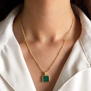 مصمم قلادة الهيب هوب مجوهرات الأزياء هدية قصيرة الترقوة سلسلة مطلية بالذهب 2mm في شقة سلسلة قلادة المجوهرات بالجملة