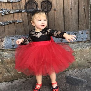2020 Spring 0-5Years Princess Kids Baby Girls Clothes Lace Flower Dress Bow Tutu Party Birthday Princess Dresses
