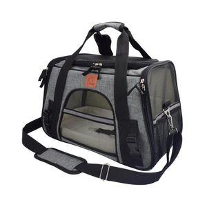 القطط الناقل شبكة حقيبة سفر الحيوانات الأليفة الملونة القط الناقل للتنفس على ظهره حقيبة الكتف المحمولة مزدوج حقيبة في الهواء الطلق