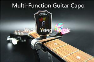 앨리스 다기능 기타 카포 컬러 LCD 디지털 튜너와 기타는 홀더 무료 배송 상품