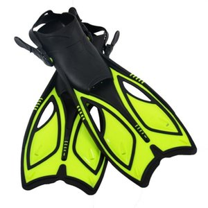 1pair Adult Kid Adjustable Strap Outdoor Snorkeling Diving Fin Non Slip Training Underwater Long Flippers Professional Swimming
