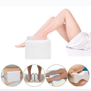 Almohada de espuma de memoria para terapia de rodilla, almohada ortopédica de rodilla para alivio de la ciática, dolor de espalda, dolor de piernas, embarazo, cadera y dolor articular
