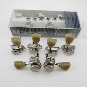 1 مجموعة 3R + 3L النيكل قفل سلسلة خمر ديلوكس آلة كهربائية غيتار رؤساء المستقبلون أوتاد ضبط الغيتار