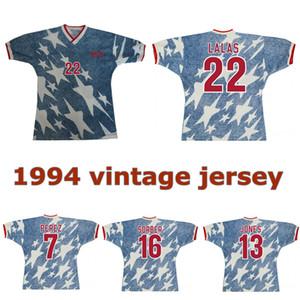 1994 الأمريكية الرجعية بعيدا جيرسي لكرة القدم 94 لالاس JONES SORBER BALBOA بيريز خمر الكلاسيكية قميص كرة القدم القديم