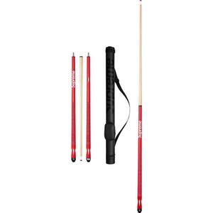 Großhandel- clone roten Holz Billardstöcke halten Mittelfuge cue Professionelle 1/2 Gelenkig Snooker-Stock-Sticks mit cue bag