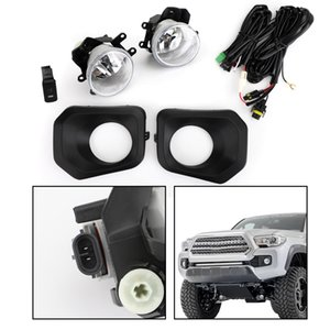 Areyourshop Car Pair Fog Light Kit Fit For 2016-2019 Toyota Tacoma Switch Wiring Cover Car Auto Accessories Parts