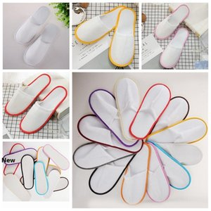 Travel Hotel SPA Anti-slip Disposable Slippers Home Guest Shoes Multi-colors Breathable Soft Disposable Slippers Outdoor Gadget ZZA1114-6